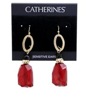 3/$20 Catherines red, black and gold dangles